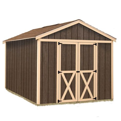 Home Depot Storage Sheds Kits by Best Barns Danbury 8 Ft X 12 Ft Wood Storage Shed Kit