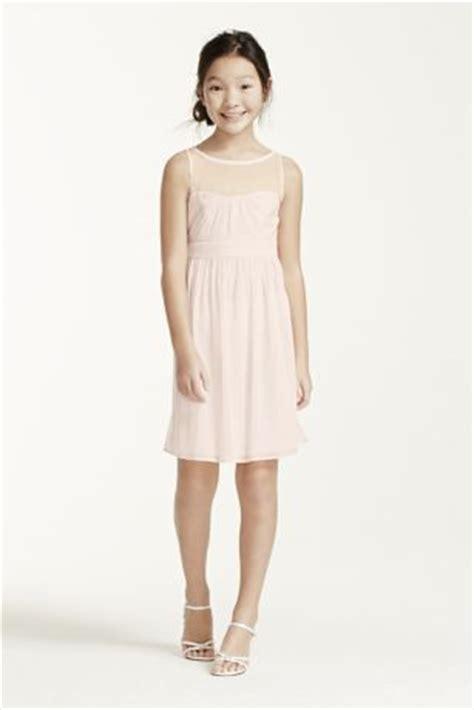 Sleeveless Short Dress With Illusion Mesh Davids Bridal