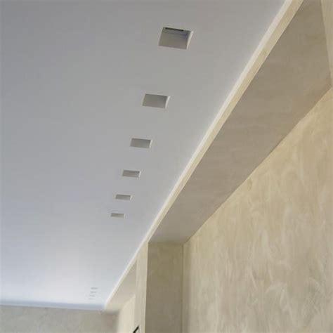 Porta Faretto Fisso in Gesso Incasso Lampadine Led Quadrato GU10 12x12cm Isyluce Area Illumina