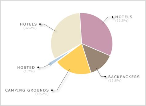 Guest Numbers By Accommodation Type, 2008