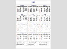 Get Free Printable Bank Holidays Calendar 2019 USA, UK