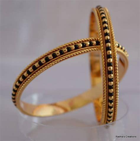 buy black bead bangle