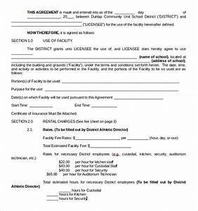 8 rental contract templates sample templates With facilities rental agreement template
