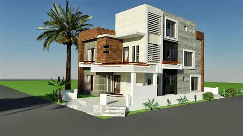 10 Marla Corner House Plan Design