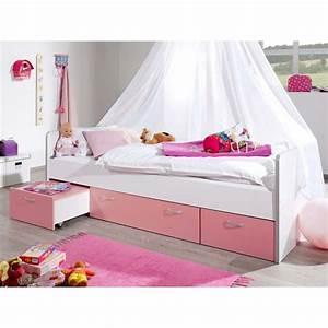 Kinderbett Mit Rausfallschutz 90x200 : bett bonny kinderbett 90x200 cm mit stauraum rosa 219 90 ~ Watch28wear.com Haus und Dekorationen