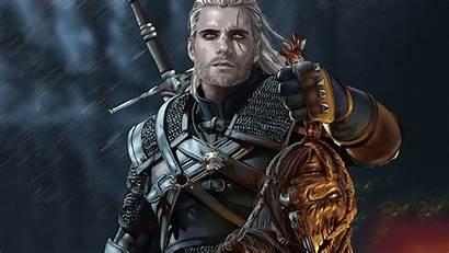 Witcher Geralt Cavill Rivia Henry Mod 4k