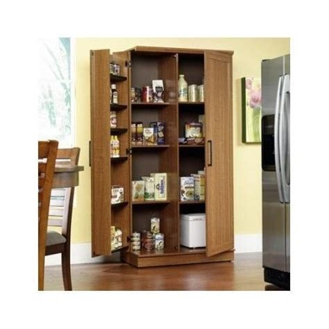 Kitchen Cupboard Space Savers by Large Kitchen Cabinet Storage Food Pantry Wooden Shelf