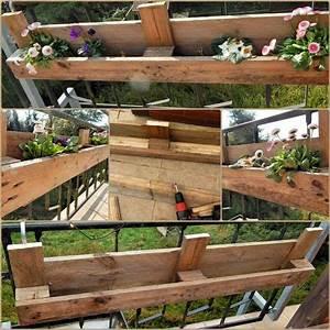 Blumenkästen Selber Bauen Anleitung : diy europaletten blumenkasten so bauen sie einen dekorativen blumenkasten balkon ~ Watch28wear.com Haus und Dekorationen