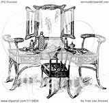 Vanity Table Illustration Clipart Vector Retro Royalty Prawny Background Regarding Notes sketch template