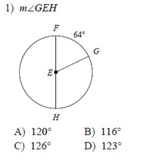 central angle worksheet