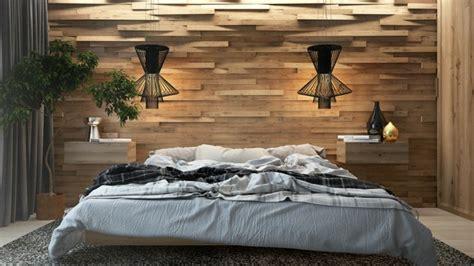 deco chambre bois mur en bois pour une déco originale de chambre à coucher