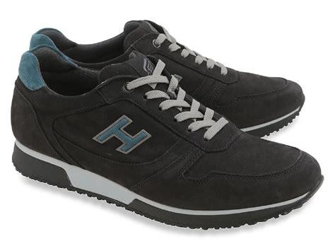 Hogan Shoes : Hogan Men's Low Top Sneakers Shoes In Black Suede