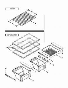 Shelf Parts Diagram  U0026 Parts List For Model Wrt311sfyb00