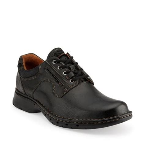 clarks unravel unstructured leather shoes