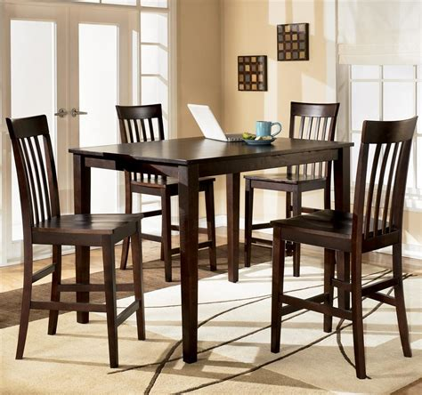 dining room table set ashley d258 223 hyland rectangular dining room counter table set 5 cn