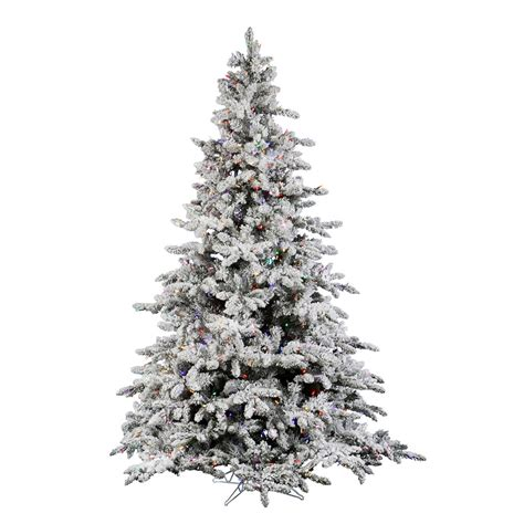 10 foot flocked utica fir tree multi colored
