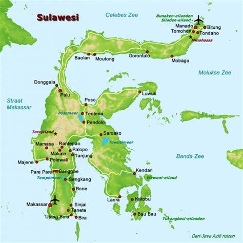 kaart sulawesi celebes foto jan en tj van ewijks