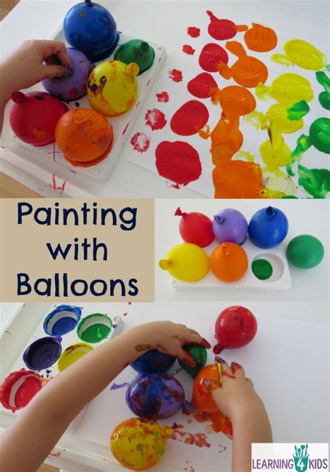 painting with balloons learning 4 998 | Painting with Balloons creative painting and sensory activity