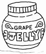 Peanut Clipart Jelly Coloring Butter Pages Outline Grape Jar Cliparts Template Library Clip Clipartbest Clipground Attribution Forget Link Don sketch template