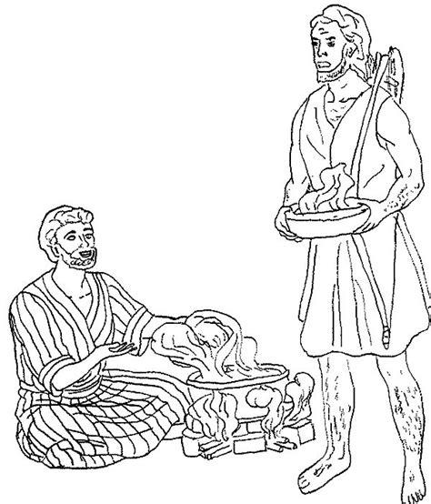 Jacob En Ezau Kleurplaat by Jacob Meets Esau Coloring Pages Az Coloring Pages