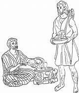 Jacob Esau Coloring Stew Bowl Want Soup Template Stone Netart Meets Getdrawings sketch template