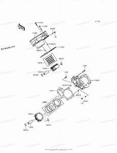 Kawasaki Side By Side 2015 Oem Parts Diagram For Cylinder