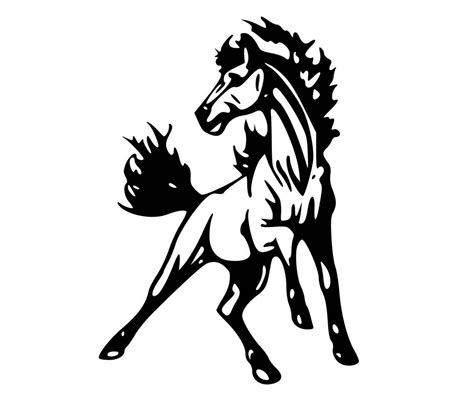 mustang horse silhouette mustangs horses clipart 63