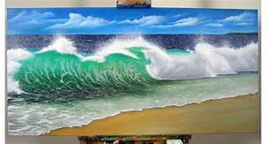 how to paint a realistic wave with h2o water mixable