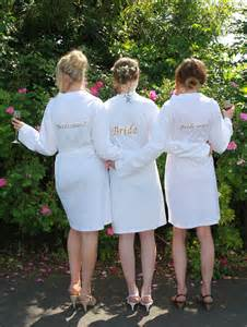 wedding gowns uk personalised white jersey dressing gown