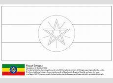 Coloriage Drapeau de l'Ethiopie Coloriages à imprimer