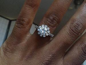 Black Woman Hand With An Engagement Ring