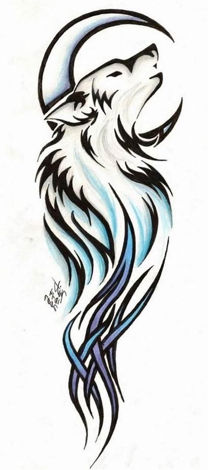 Wolf Tattoo Tribal Tattoos Drawings Designs Drawing