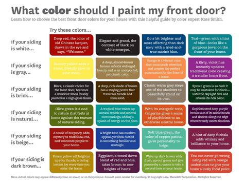 better homes and gardens front door color chart home