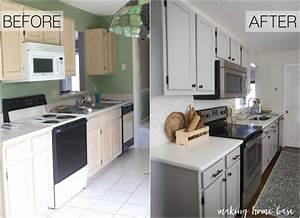 Gray And White Kitchen Kitchen Makeover Making Home Base
