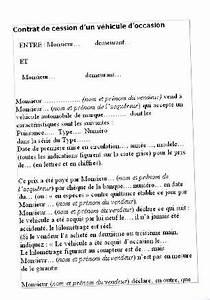 Que Faire De La Carte Grise En Cas De Vente : contrat de cession d 39 un v hicule d 39 occasion ~ Gottalentnigeria.com Avis de Voitures