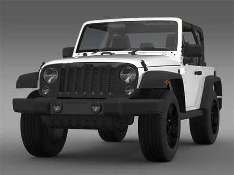 jeep wrangler willys   model max obj ds fbx cd lwo