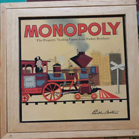 monopoly wooden edition  images board games
