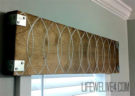 diy wood valance be different act normal 8 great diy valance ideas