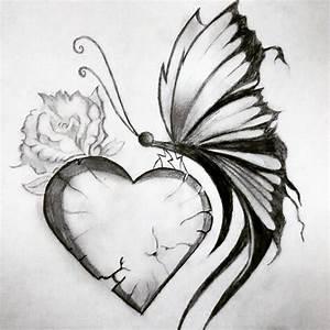 Pretty Broken Hearts Drawings broken art heart drawing on ...