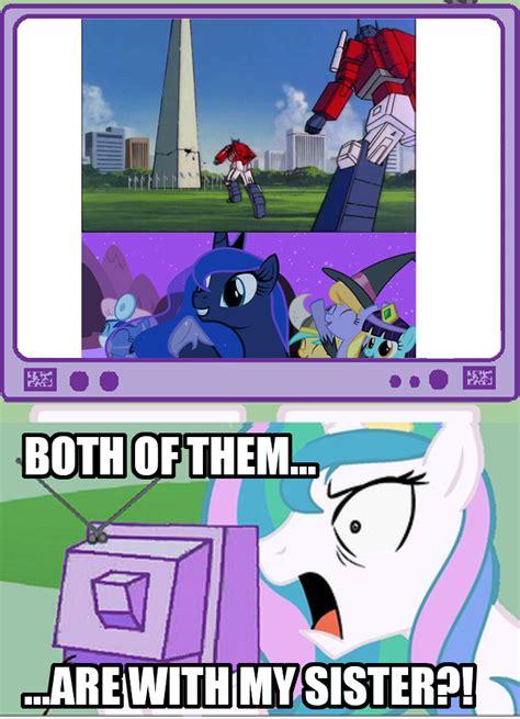 Princess Celestia Meme - 139521 meme optilestia optimus prime pony princess