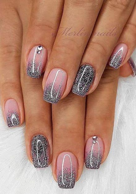 nails glitter french nails nails stylish nails