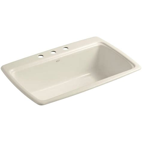 and the kitchen sink kohler cape dory drop in cast iron 33 in 3 single 4064