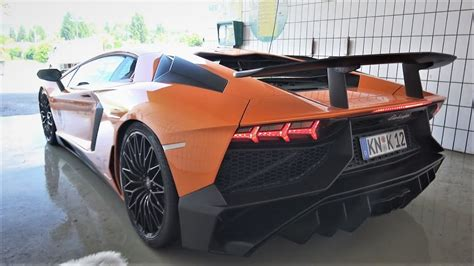 lamborghini aventador sv roadster with insane capristo exhaust lamborghini aventador sv w capristo exhaust terrorizing velden flames revs crazy sound
