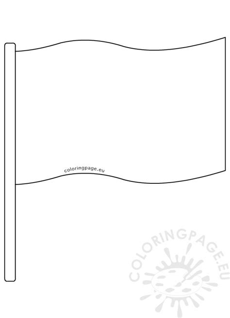 Flag Banner Template Printable  Coloring Page
