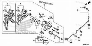 Honda Motorcycle 2018 Oem Parts Diagram For Rear Brake