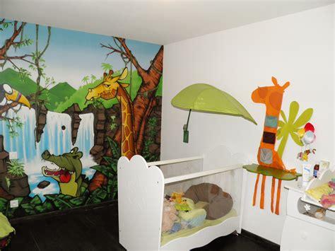 chambre bébé jungle deco chambre bebe garcon jungle chambre idées de