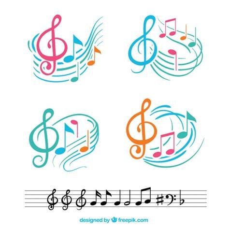 Red Orchestra 2 Wallpaper Notas Musicales Coloridas Con Pentagramas Abstractos Descargar Vectores Gratis
