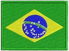 Patch Bordado Bd007 Bandeira Brasil 10x7,5cm Viagem