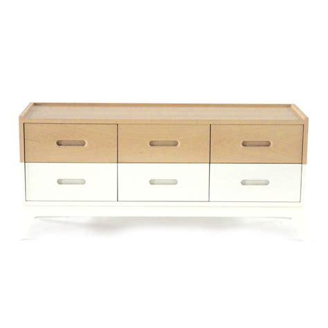 commode 6 tiroirs blanc nobodinoz pour chambre enfant les enfants du design