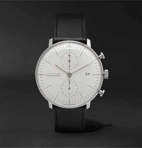 Lyst  Junghans Max Bill Stainless Steel And Leather